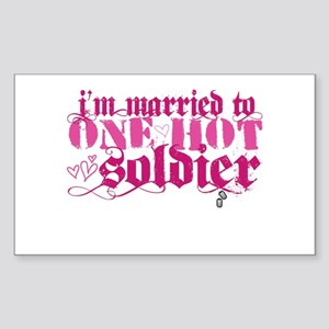 I'm married to ... [pink] Sticker (Rectangle)